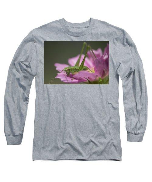 Flower Hopper Long Sleeve T-Shirt by Michael Eingle