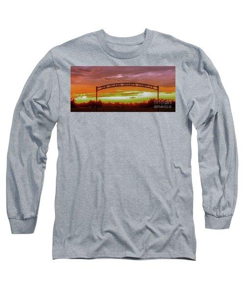 Gem Island Sports Complex Long Sleeve T-Shirt by Robert Bales