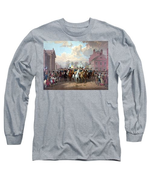General Washington Enters New York Long Sleeve T-Shirt by War Is Hell Store