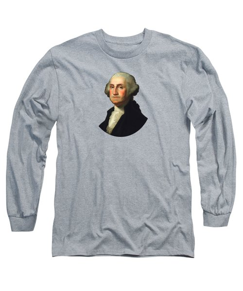 George Washington - Rembrandt Peale Long Sleeve T-Shirt by War Is Hell Store