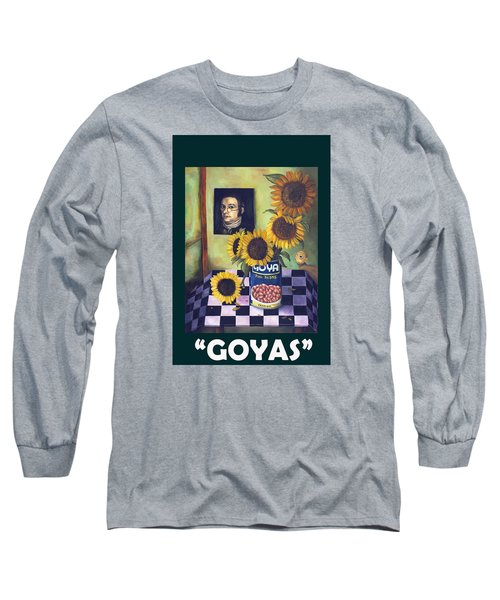 Goyas With Lettering Long Sleeve T-Shirt by Leah Saulnier The Painting Maniac