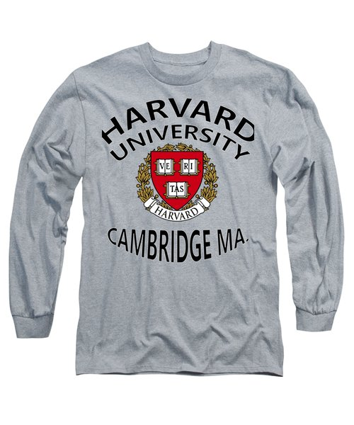 Harvard University Cambridge M A  Long Sleeve T-Shirt by Movie Poster Prints