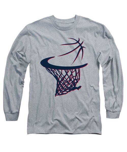 Hawks Basketball Hoop Long Sleeve T-Shirt by Joe Hamilton