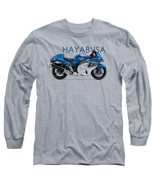 Hayabusa In Blue Long Sleeve T-Shirt by Mark Rogan