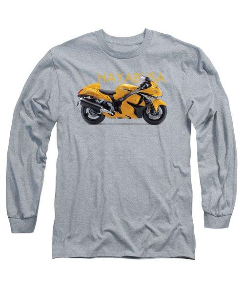 Hayabusa In Yellow Long Sleeve T-Shirt by Mark Rogan