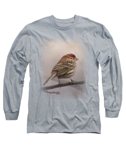 House Finch In January Long Sleeve T-Shirt by Jai Johnson