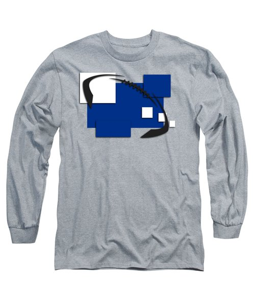 Indianapolis Colts Abstract Shirt Long Sleeve T-Shirt by Joe Hamilton