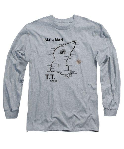 Isle Of Man Tt Long Sleeve T-Shirt by Mark Rogan