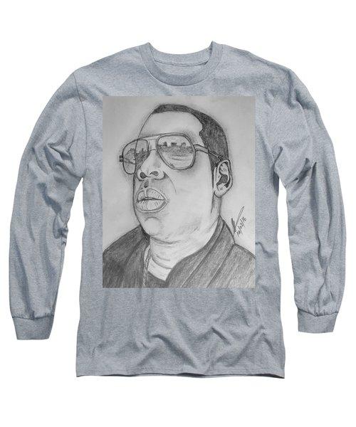 Jay-z  Long Sleeve T-Shirt by Collin A Clarke
