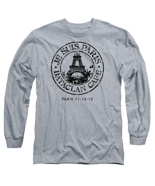 Je Suis Paris Long Sleeve T-Shirt by Gary Grayson