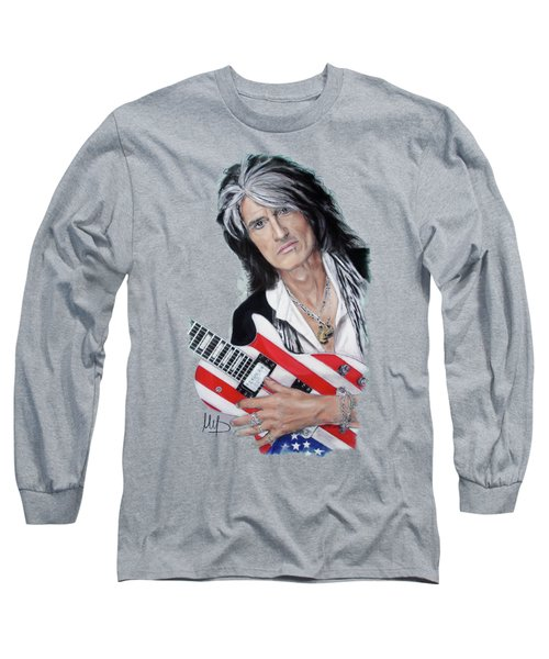 Joe Perry Long Sleeve T-Shirt by Melanie D