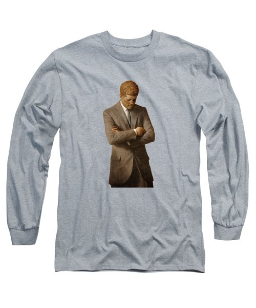 John F Kennedy Long Sleeve T-Shirt by War Is Hell Store