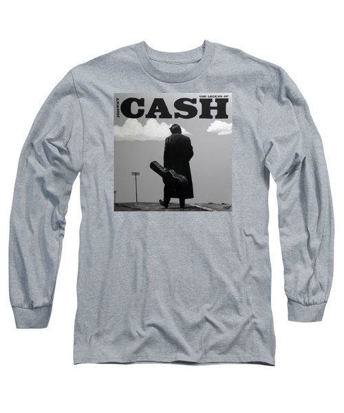 Johnny Cash Long Sleeve T-Shirt by Tom Carlton