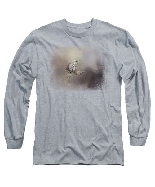 Just A Whisper Of Feathers Long Sleeve T-Shirt by Jai Johnson