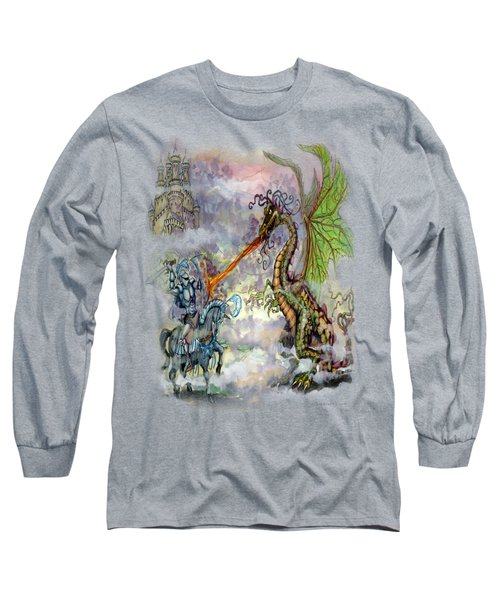Knights N Dragons Long Sleeve T-Shirt by Kevin Middleton