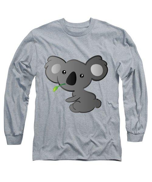Koala Long Sleeve T-Shirt by Hadeel ArT