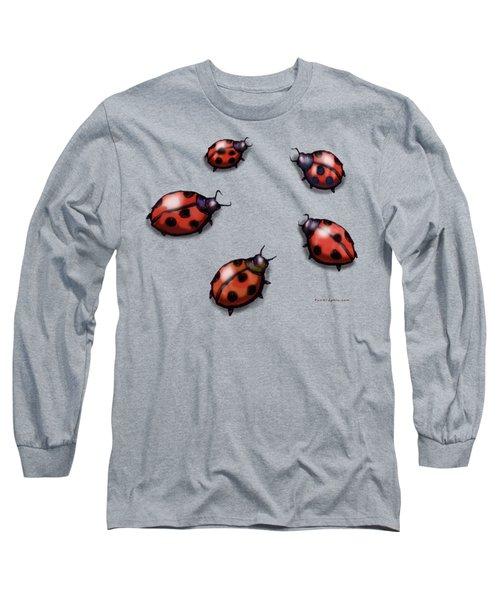 Ladybugs Long Sleeve T-Shirt by Kevin Middleton
