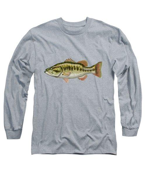 Largemouth Bass Long Sleeve T-Shirt by Serge Averbukh