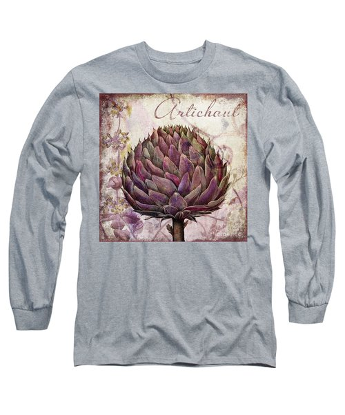 Legumes Francais Artichoke Long Sleeve T-Shirt by Mindy Sommers