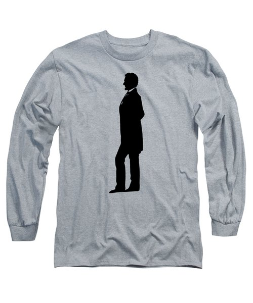 Lincoln Silhouette And Signature Long Sleeve T-Shirt by War Is Hell Store