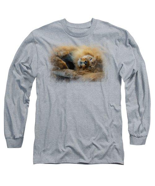 Lion Love 2 Long Sleeve T-Shirt by Jai Johnson