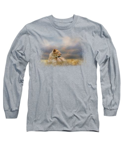 Lioness After The Storm Long Sleeve T-Shirt by Jai Johnson
