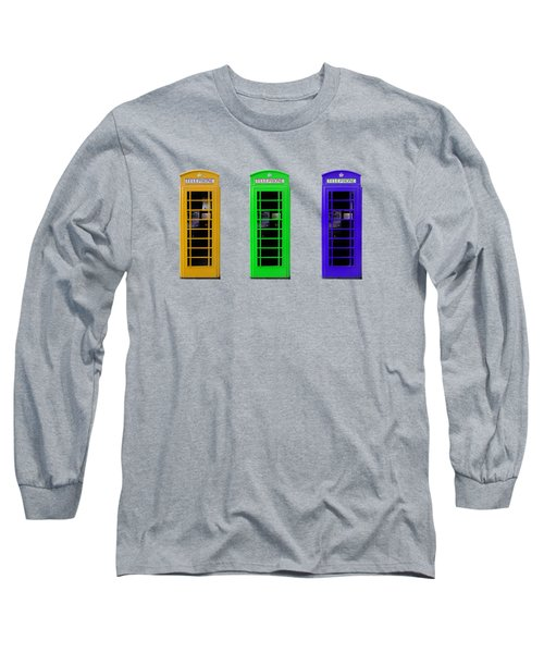 London Telephone Boxes Long Sleeve T-Shirt by Mark Rogan