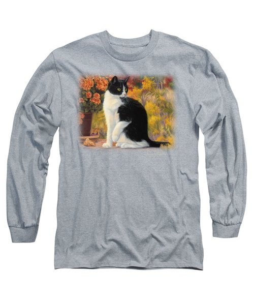 Looking Afar Long Sleeve T-Shirt by Lucie Bilodeau