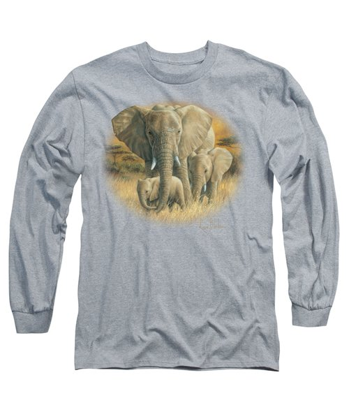 Loving Mother Long Sleeve T-Shirt by Lucie Bilodeau