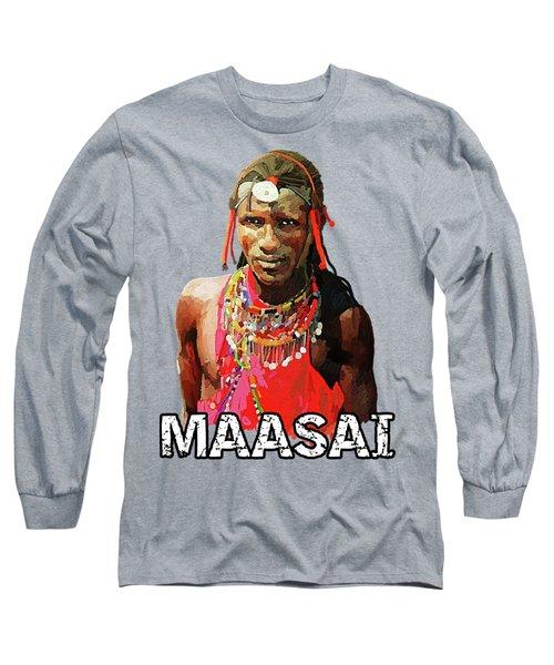 Maasai Moran Long Sleeve T-Shirt by Anthony Mwangi