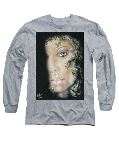 Medusa Long Sleeve T-Shirt by John Sodja