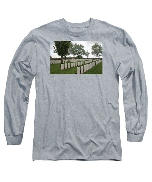 Long Sleeve T-Shirt featuring the photograph Messines Ridge British Cemetery by Travel Pics