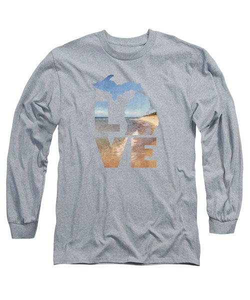 Michigan Love Long Sleeve T-Shirt by Emily Kay