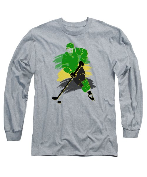 Minnesota North Stars Player Shirt Long Sleeve T-Shirt by Joe Hamilton