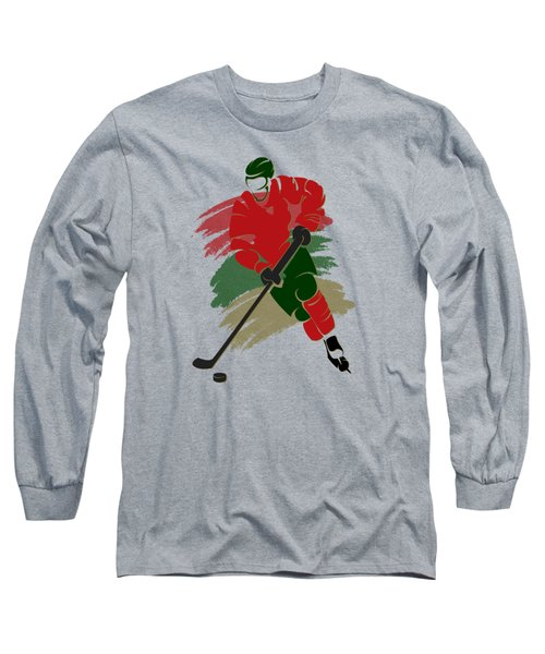 Minnesota Wild Player Shirt Long Sleeve T-Shirt by Joe Hamilton