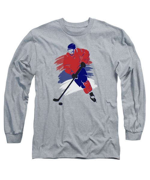 Montreal Canadiens Player Shirt Long Sleeve T-Shirt by Joe Hamilton