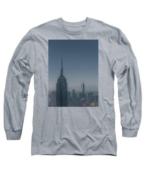 Morning In New York Long Sleeve T-Shirt by Chris Fletcher