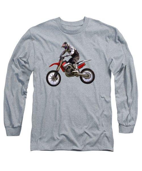Motocross Long Sleeve T-Shirt by Scott Carruthers