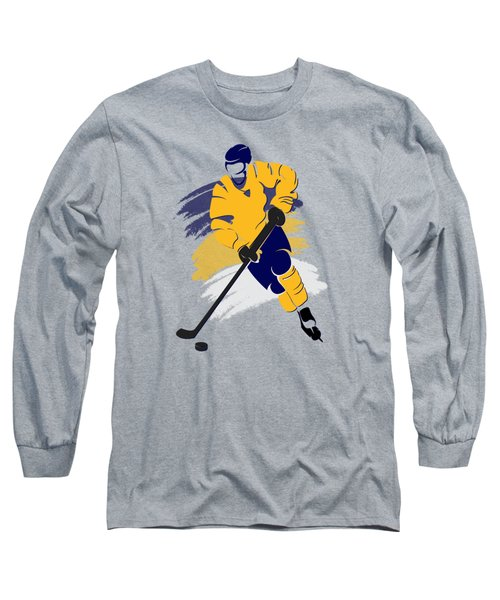 Nashville Predators Player Shirt Long Sleeve T-Shirt by Joe Hamilton