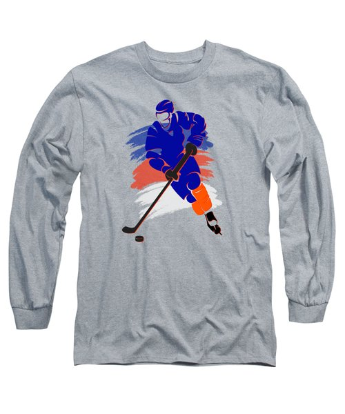 New York Islanders Player Shirt Long Sleeve T-Shirt by Joe Hamilton