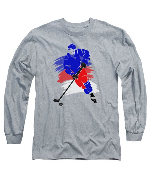 New York Rangers Player Shirt Long Sleeve T-Shirt by Joe Hamilton
