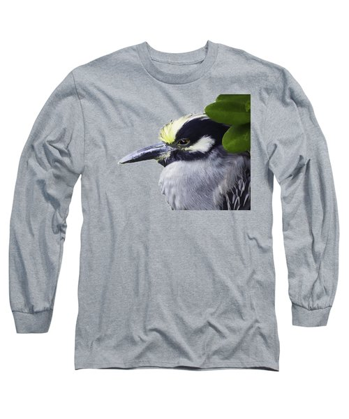 Night Heron Transparency Long Sleeve T-Shirt by Richard Goldman