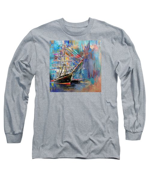 Old Ship 226 1 Long Sleeve T-Shirt by Mawra Tahreem