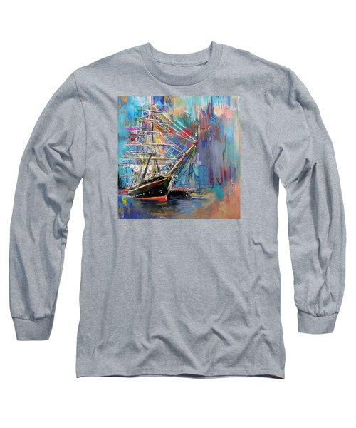Old Ship 226 1 Long Sleeve T-Shirt by Mawra Tahreem