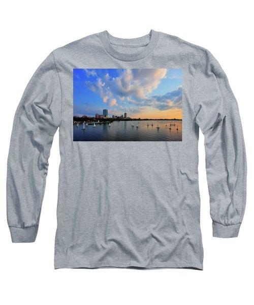 On The River Long Sleeve T-Shirt by Rick Berk