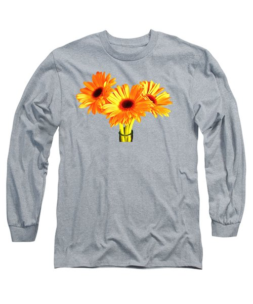 Orange Gerbera's Long Sleeve T-Shirt by Scott Carruthers