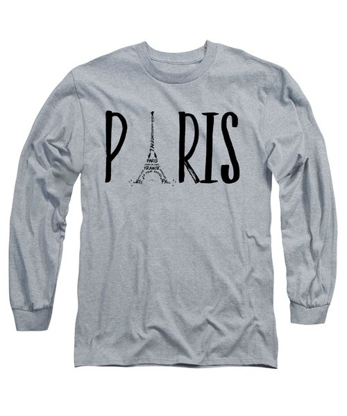 Paris Typography Long Sleeve T-Shirt by Melanie Viola