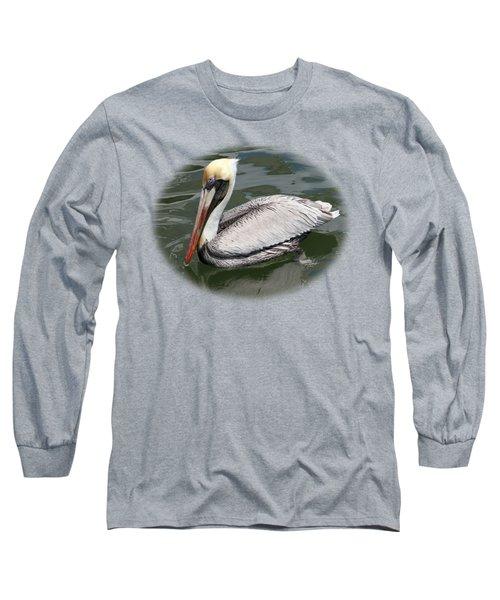 Pelican 3 Vignette Long Sleeve T-Shirt by Bob Slitzan