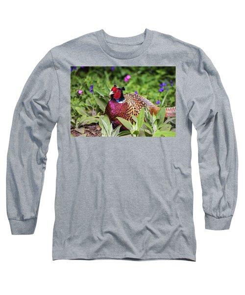 Pheasant Long Sleeve T-Shirt by Martin Newman