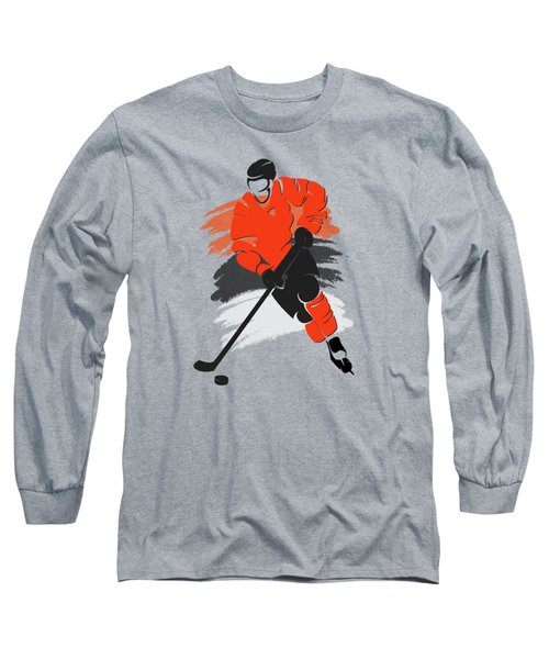 Philadelphia Flyers Player Shirt Long Sleeve T-Shirt by Joe Hamilton
